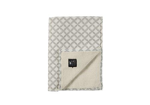 Mies & Co baby soft teddy deken - geo circles offwhite 70x100