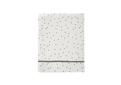 Mies & Co wieg laken baby - adorable dots offwhite 80x100