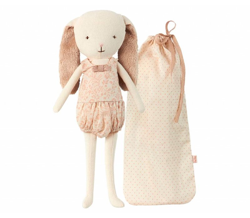 bunny bell in bag - rose