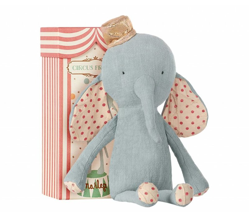 circus friends elephant with hat - blue