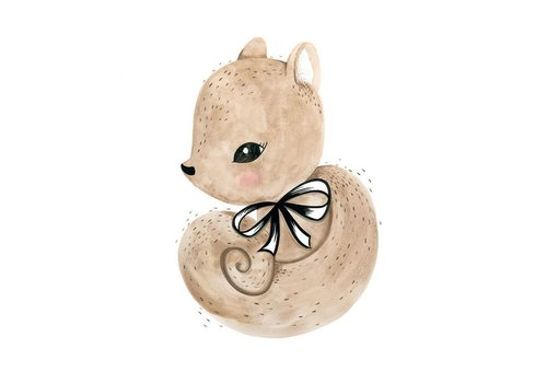 Cassie Loizeaux squirrel print