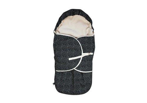 Mies & Co voetenzak cozy dots - zwart