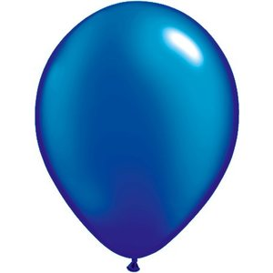 Rundballon blau-metallic - 13 cm - 100 Stück