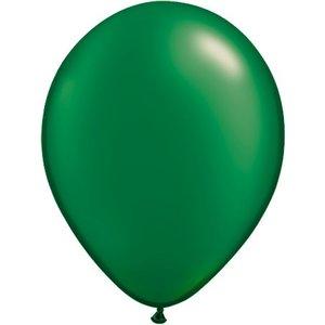 Rundballon dunkelgrün-metallic - 13 cm - 100 Stück
