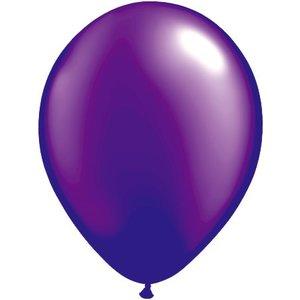Rundballon violett-metallic - 30 cm - 100 Stück