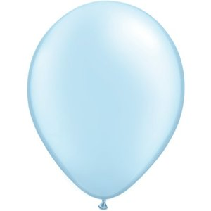 Rundballon hellblau-metallic - 30 cm - 100 Stück