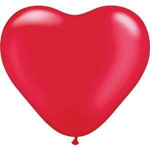 Herzballon rot-metallic