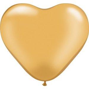Herzballon gold-metallic