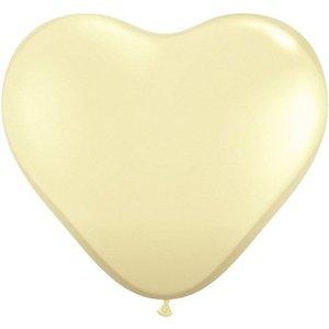 Herzballon creme - 30 cm
