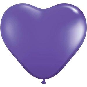 Herzballon lila