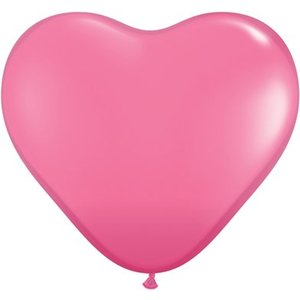 Herzballon rosa
