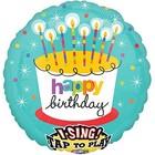 Singender Ballon Happy Birthday Torte