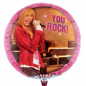 Singender Ballon Hannah Montana mit ca. 70 cm Durchmesser