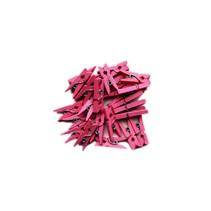 Roze Mini Wasknijpers 20 stuks