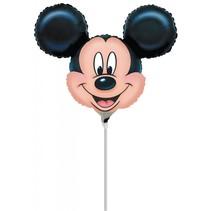 Mickey Mouse Ballon op stokje 30cm