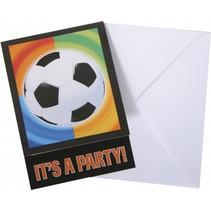 Voetbal Uitnodigingen 8 stuks