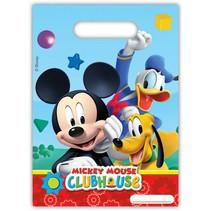Mickey Mouse Uitdeelzakjes 6 stuks