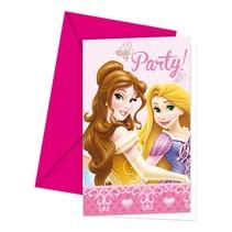 Disney Prinsessen Uitnodigingen 6 stuks