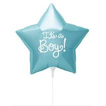 Geboorte Ballon Jongen It's a Boy op stokje 23cm