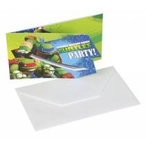 Ninja Turtles Uitnodigingen 6 stuks