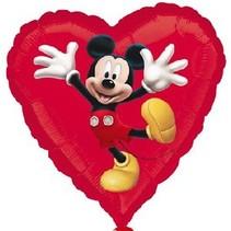 Mickey Mouse Helium Ballon Hart 45cm leeg