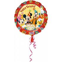Mickey Mouse Helium Ballon Happy Birthday 43cm leeg