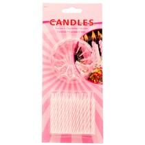 Roze Kaarsjes 6cm 24 stuks