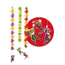 Sinterklaas Hangdecoratie Spiralen 60cm 3 stuks