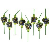 Ninja Turtles Rietjes 8 stuks
