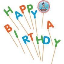 Planes Kaarsjes Happy Birthday 9cm 13 stuks