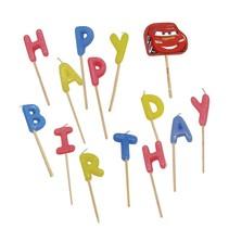 Cars Kaarsjes Happy Birthday 9cm 14 stuks