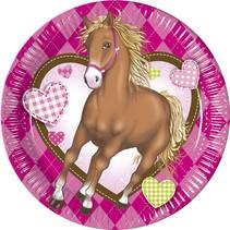 Paarden Gebaksbordjes Versiering 20cm 8 stuks