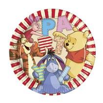 Winnie The Pooh Borden Feest 23cm 8 stuks