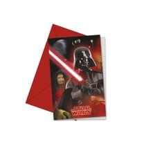 Star Wars Heroes Uitnodigingen 6 stuks