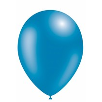 Blauwe Ballonnen Metallic 30cm 10 stuks