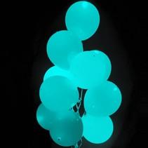 Turquoise Led Ballonnen met schakelaar 30cm 4 stuks