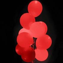 Rode Led Ballonnen met schakelaar 30cm 4 stuks