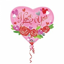 Helium Ballon Hart I Love You Roze 55cm leeg