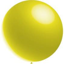 Lichtgele Reuze Ballon Metallic 60cm