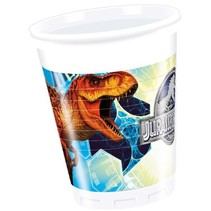 Jurassic World Bekers 200ml 8 stuks