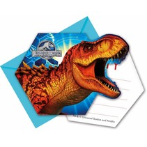 Jurassic World Uitnodigingen 6 stuks