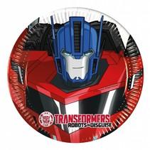 Transformers Gebaksbordjes 20cm 8 stuks