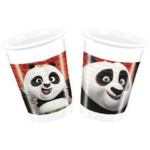 Kung Fu Panda Bekers 200ml 8 stuks