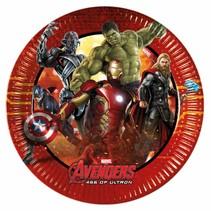 Avengers Gebaksbordjes Versiering 20cm 8 stuks