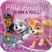 Paw Patrol Gebaksbordjes Roze 18cm 8 stuks