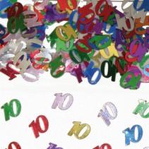 Tafelconfetti 10 Jaar 1cm 600 stuks