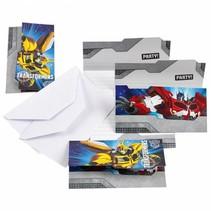 Transformers Uitnodigingen Versiering 6 stuks