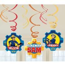 Fireman Sam Hangdecoratie Versiering 6 stuks