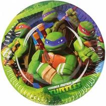Ninja Turtles Gebaksbordjes 18cm 8 stuks