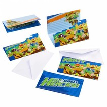 Ninja Turtles Uitnodigingen Half Shell Heroes 8 stuks